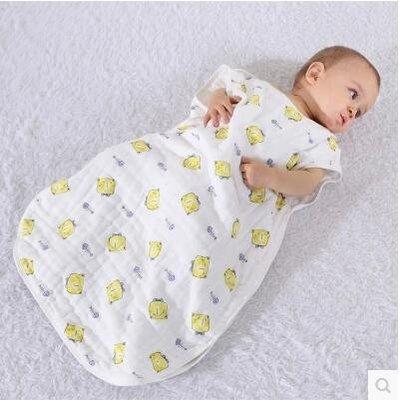 純棉紗布新生兒童防踢被空調被春秋寶寶睡袋GZG410