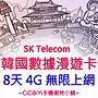 [CiCiBiYi 全球網卡小舖] 3香港  韓國 8天 ...