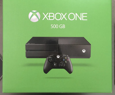 送遊戲XBOX ONE  500G 黑色 (單機主機+手把+配件盒裝全新公司貨微軟 )