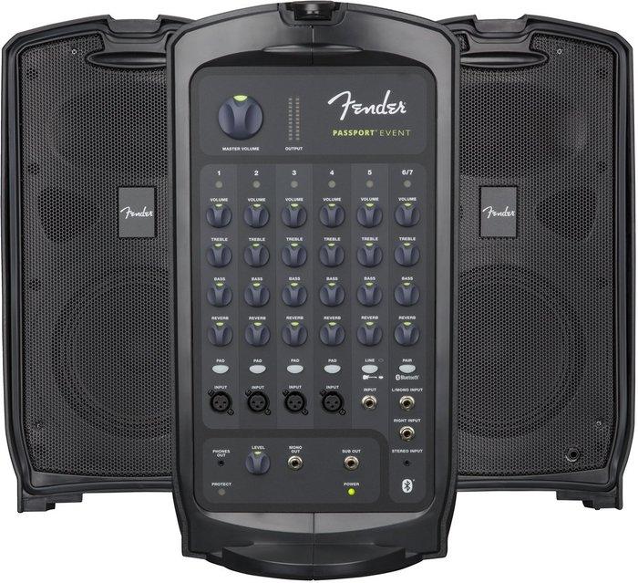 《民風樂府》Fender PASSPORT EVENT 行動PA擴音喇叭 375W功率 藍芽功能 音質絕佳 快速裝拆