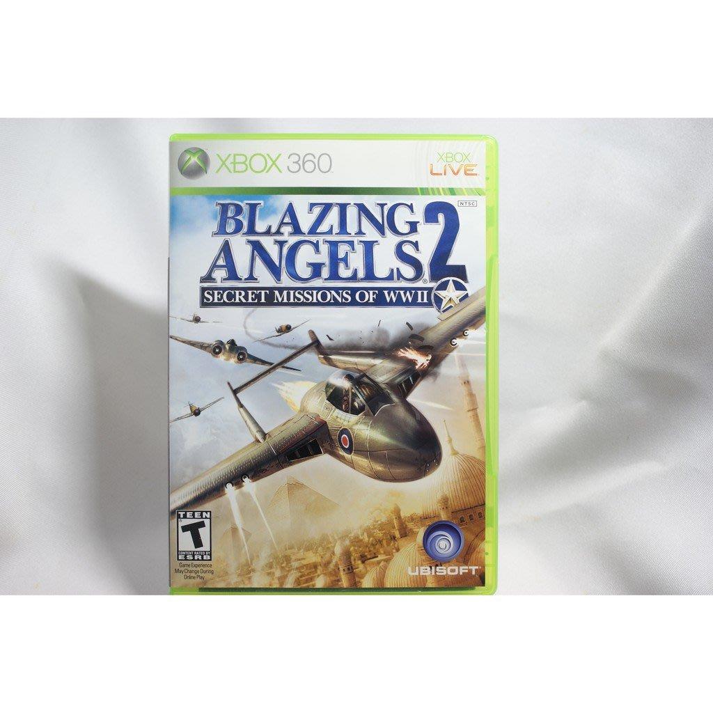 [耀西]二手 美版 XBOX 360 熾焰天使 2:秘密任務 BLAZING ANGELS 2 含稅附發票