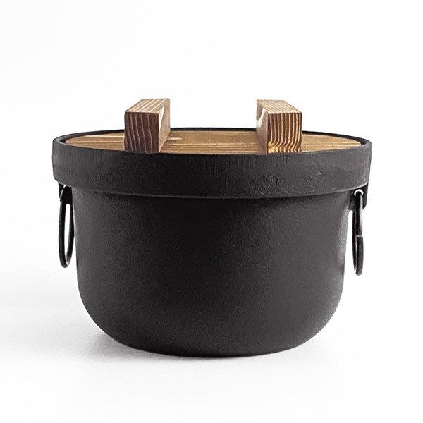 日本鑄鐵鍋南部鐵器【池永】釜形3合炊飯鍋 鑄鐵炊飯鍋 煮飯鍋
