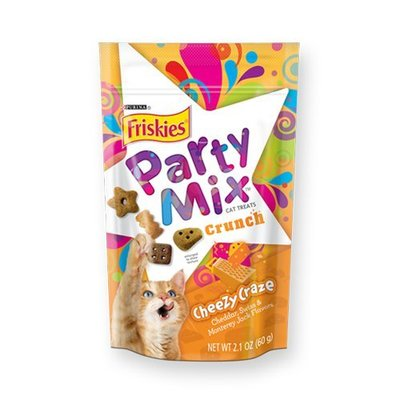 *Crazy Zoo*喜躍《Party Mix 香酥餅》繽紛起司(切達乳酪高達乳酪艾登乳酪) 60G