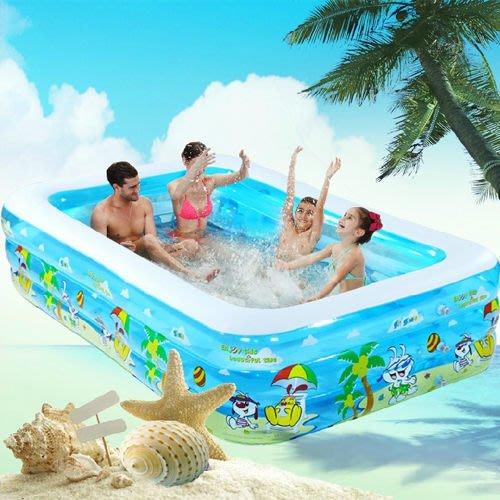5Cgo 【批發】含稅會員有優惠 38763971737 家用充氣游泳池家庭大型超大號水池 200*150*60豪華套餐