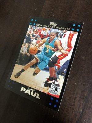 CHRIS PAUL     2007 TOPPS 50紀念卡  40 卡片如圖