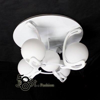 【58街】附遙控器 jump ceiling lamp「跳躍吸頂燈_4+1燈款 」,復刻版。GZ-170