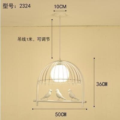 2324白色款北歐餐廳吊燈創意個性餐廳燈飯廳燈現代鐵藝XSJ❤818294