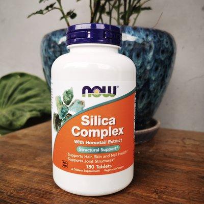 健康活力站~Now Foods Silica Complex二氧化硅復合片頭髮皮膚指甲180片