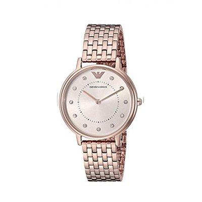 Alina 精品代購 EMPORIO ARMANI 亞曼尼手錶 AR11062 鋼帶石英腕錶 簡約時尚優雅女士手錶 歐美代購
