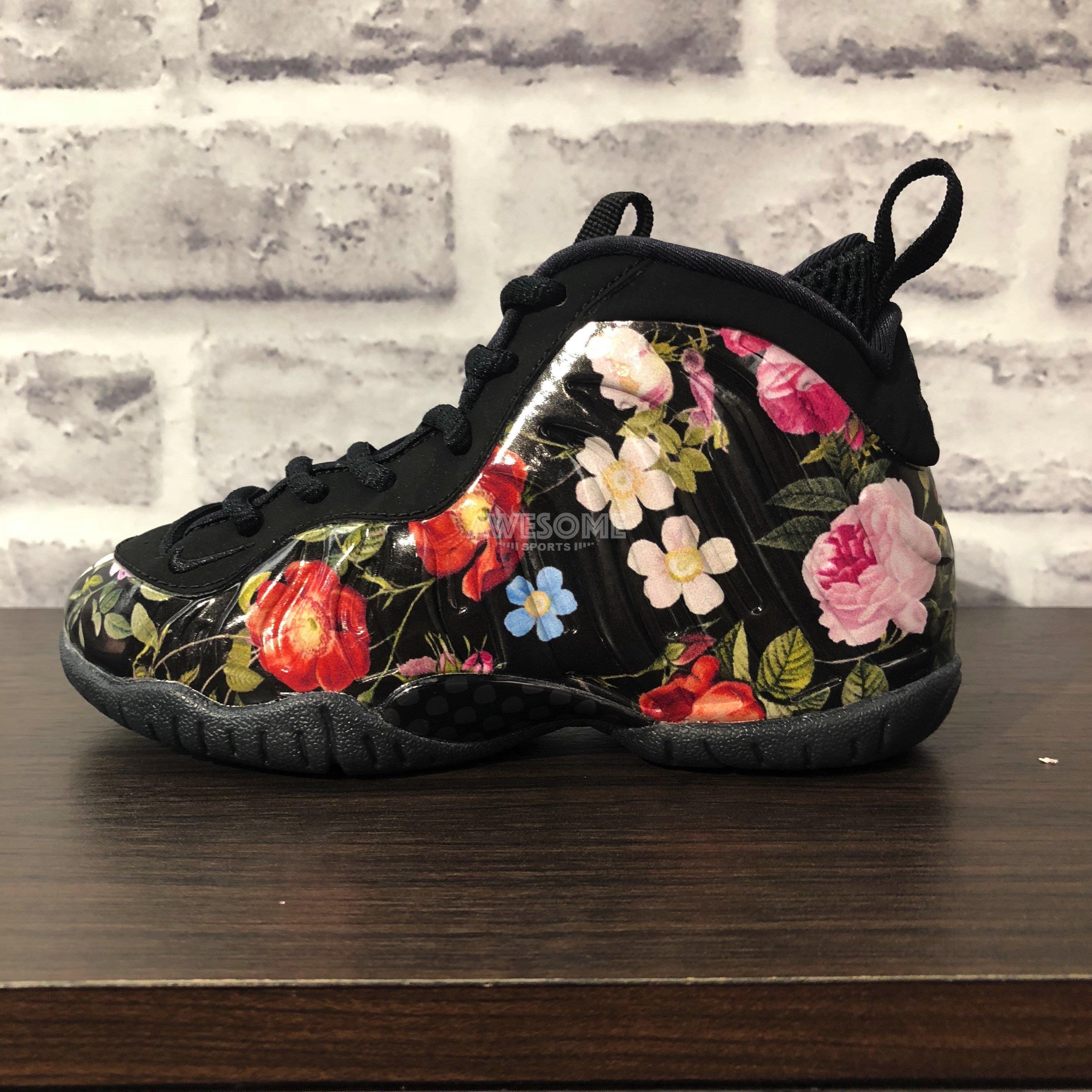 new concept 72b6c 5cf0d  歐鉉 NIKE LITTLE POSITE ONE PRM PS Floral 花卉太空鞋AT8249-001