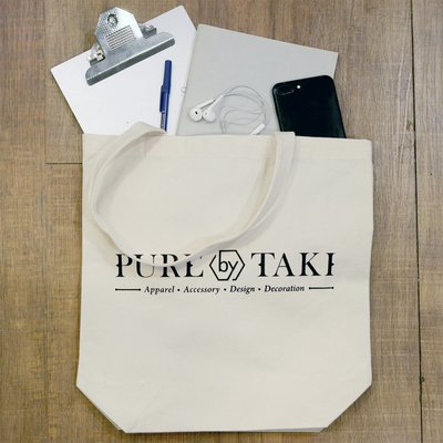[PURE by TAKI]  PURE by TAKI TOTE BAG 托特包 黑字