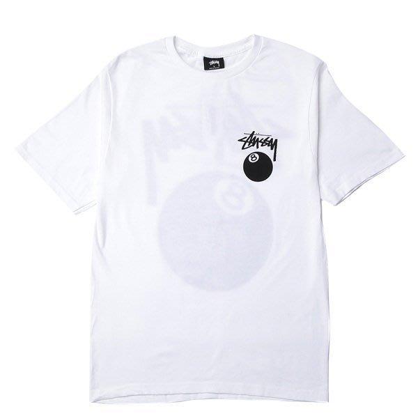 ☆AirRoom☆【現貨】STUSSY 8 BALL TEE 黑 白 灰 字體 8號球 1903776