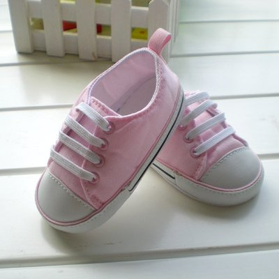 寶貝倉庫~粉色運動板鞋~學步鞋~寶寶鞋~嬰兒鞋~娃娃鞋~學走鞋~軟布底~童鞋~鬆緊帶設計~坐學步車穿~彌月贈禮