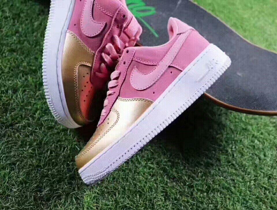 Nike Air force 1 Los Qs 空軍一號LOW 櫻花金屬粉色AH8147-600 尺碼36-39 80305aeef44b