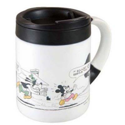 日本迪士尼系列 米奇白色 雙層真空斷熱 不鏽鋼 保冷·保溫杯280ml
