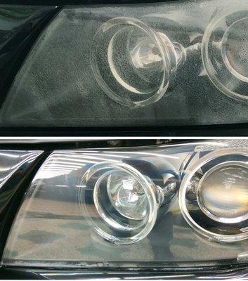 大燈快潔現場施工 BMW 寶馬 330I 328I 328XI 原廠大燈泛黃霧化修復翻新處理