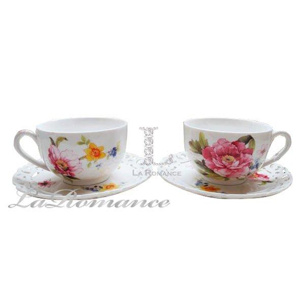 【芮洛蔓 La Romance】帝凡內系列國色天香對杯盤組 / 下午茶組 / 花茶組
