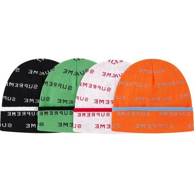 【紐約范特西】預購 Supreme SS20 Logo Repeat Beanie 毛帽