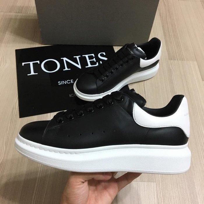 【TONES.】Alexander MCQueen 19SS 厚底鞋 黑白尾  限定款 亮皮 杰倫實著
