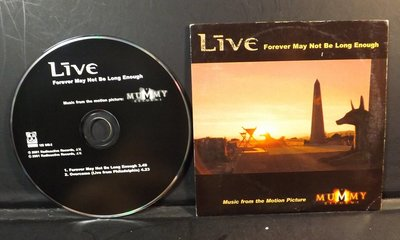 CD MUMMY電影原聲帶-Forever May Not Be Long Enough~10HJ21C05~