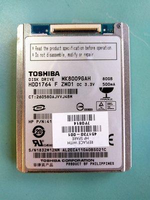 (測試良品) 東芝TOSHIBA 1.8吋 CE/ZIF介面硬碟 MK8009GAH