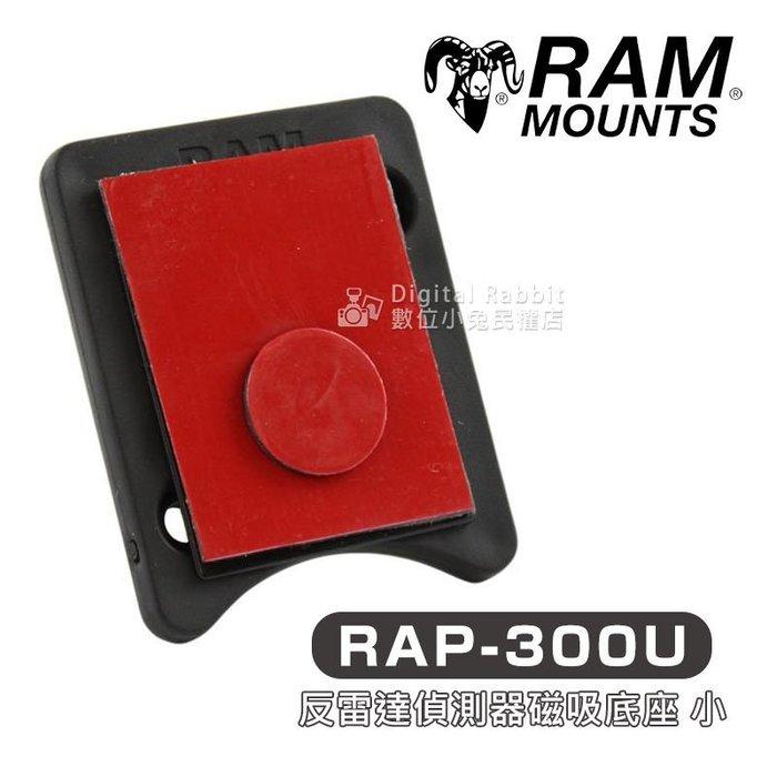 數位黑膠兔【RAM Mount RAP-300U 反雷達偵測器 磁吸 底座 小】導航架 車架 汽車 機車 重機 單車