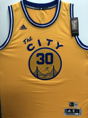 NBA 金州勇士 世界頂尖射手 柯瑞 curry city 城市版 認證親簽球迷版球衣 jsa認證(含吊牌)