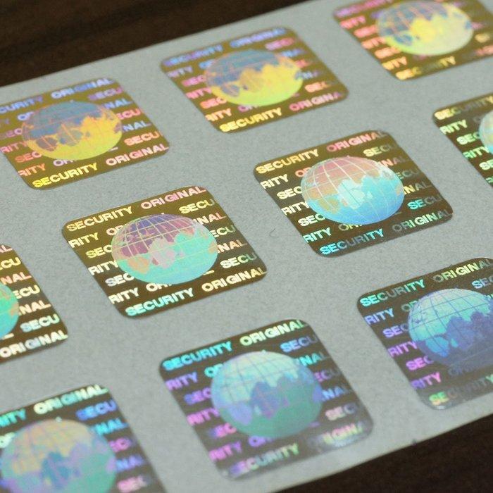 公版雷射標籤 防偽貼紙 全像防偽標籤【客製logo與序號】