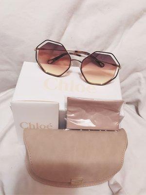 #chloe poppy octagon metal sunglasses楊幂同款