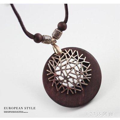 女士項鍊歐美復古風新年象形許愿樹幸運樹木墜皮繩長款項鍊正韓甜美飾品 LH6133