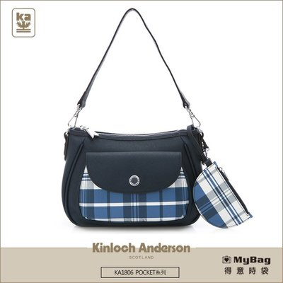 Kinloch Anderson 金安德森 側背包 POCKET 斜側包 深藍 KA180605NYF 得意時袋