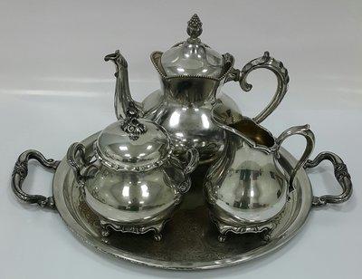 428高檔美國鍍銀壺組 Vintage Silverplate Ornate teapots whole set