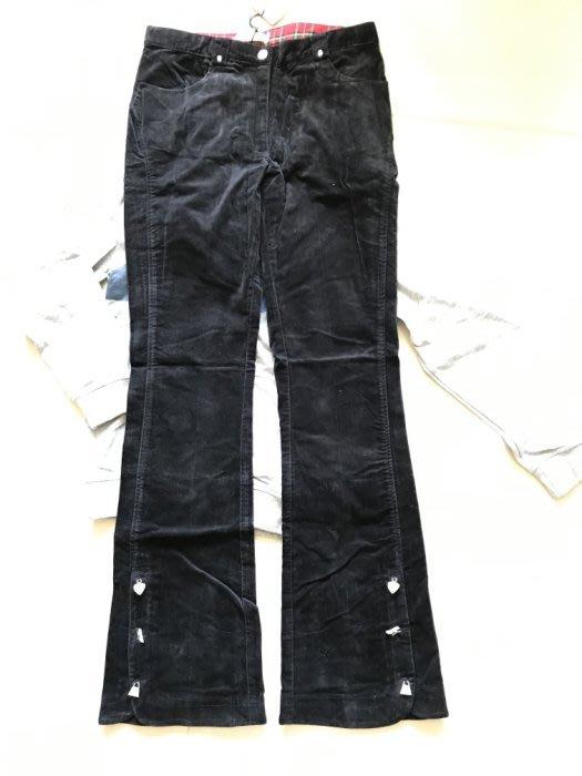 全新 百貨專櫃 Monnalisa 蒙娜麗莎質感水鑽可愛銀飾絨布長褲-170cm-低價起標