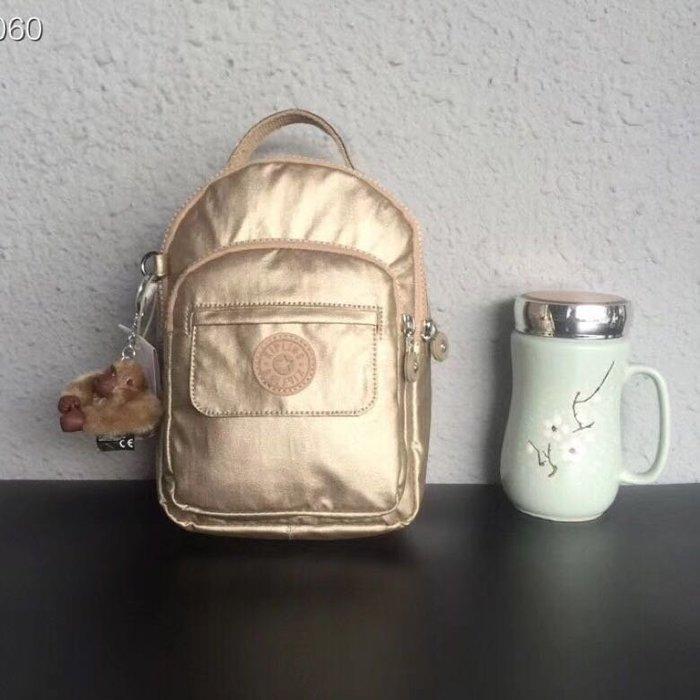 Kipling 猴子包 mini HB7349 金屬金 多用款肩背 斜背 側背 輕量雙肩後背包 小號 防水 限時優惠