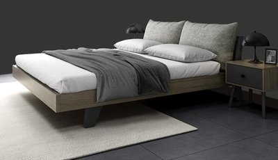 店長好康推薦 床架 北歐床現代簡約1.5米雙人床北歐風實木床1.8經濟原木床架主臥婚床