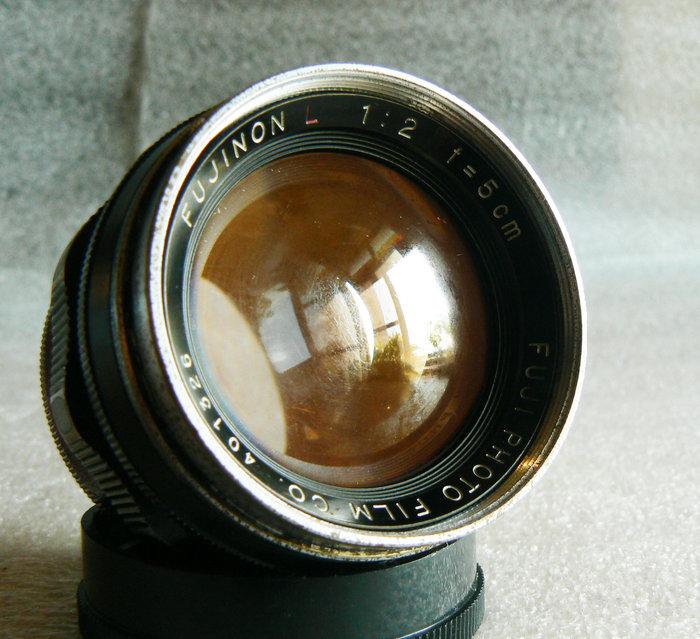 【悠悠山河】黃金膜 紅L FUJI PHOTO FUJINON 紅L 5cm F2 Leica L39口 稀有早期公分鏡
