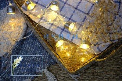 暖光仿透明螺旋大圓球燈泡燈串,5公尺20個燈【插電款】4.5cm燈泡 LED燈串 現貨-立即出貨