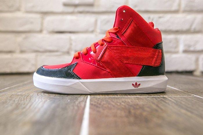 【第二件半價】現貨 Adidas Originals C-10 高桶鞋 稜角分明  小童鞋  紅色 C75439