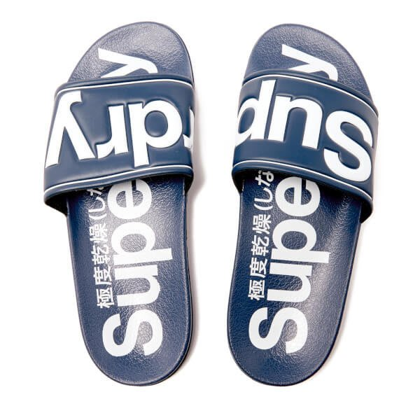 零碼特價 極度乾燥 Superdry Pool Slide 海灘鞋 涼鞋 拖鞋 池畔鞋 運動拖鞋  Adidas 藍