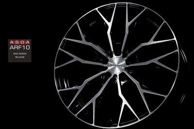 CR輪業 全新 ASGA ARF10 19吋 旋壓輕量化鋁圈 鋼琴黑車面 5/108 5/112 5/114