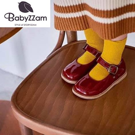 『※妳好,可愛※』妳好可愛韓國童鞋 BABYZZAM~正韓 歐風經典亮面娃娃鞋 大頭娃娃鞋