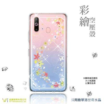 【WT 威騰國際】WT ® Samsung Galaxy A8s 施華洛世奇水晶 彩繪空壓殼 軟殼 -【楓彩】