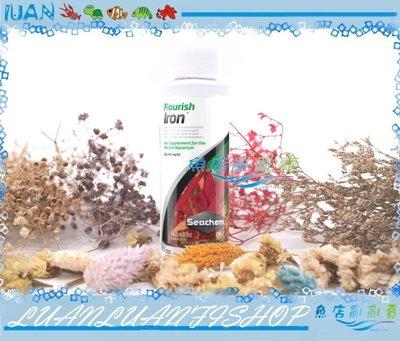 【~魚店亂亂賣~】N-2475美國Seachem西肯Flourish iron水草高濃度鐵肥添加劑100ml鐵質液肥劑