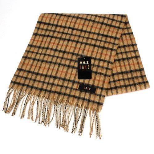 【姐只賣真貨】DAKS經典格紋羊毛圍巾(駝色/黑色)