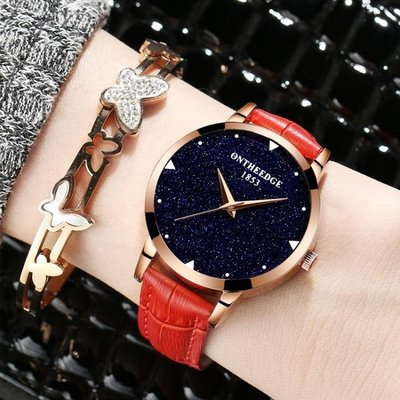 手錶瑞之緣女士時尚潮流女錶帶防水錶學生石英錶正韓超薄   全館免運
