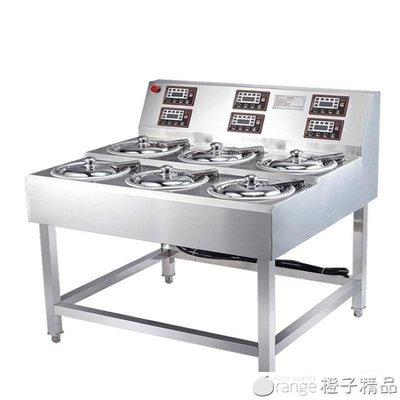 煲飽香全自動智能煲仔飯機商用數碼單層6頭煲仔爐瓦煲錫箔碗外賣QM