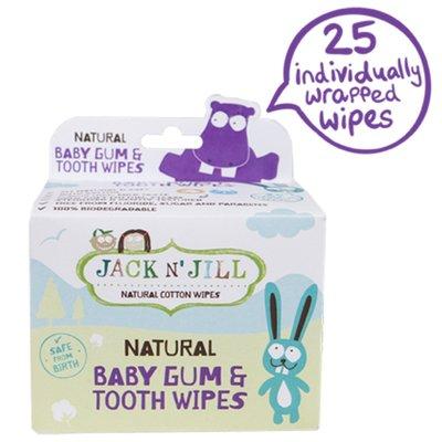 牙齒寶寶 澳洲 JACK N JILL 寶寶 口腔 潔牙濕巾 (0-12M) 25入盒裝