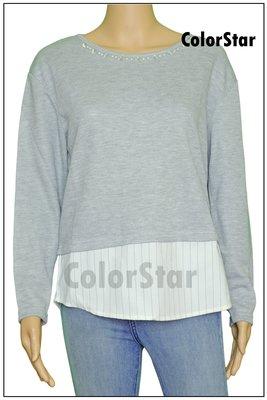 [ColorStar] 日本帶回 NICE CLAUP 灰色 長袖 縫珠珠 上衣,適合各種場合組合穿搭好選擇,喜歡別錯過