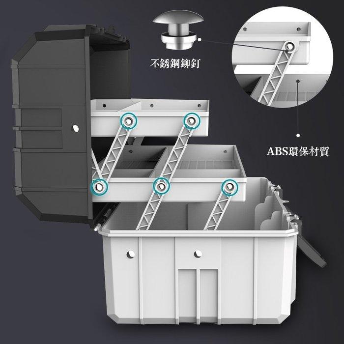 hello小店-三層折疊五金塑料工具箱多功能手提式維修盒家用收納零件#收納盒#零件收納#五金收納#