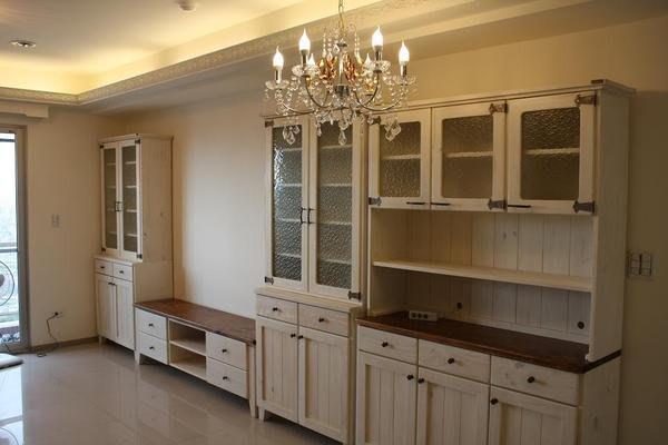 原木工坊~ 實木家具訂做設計  老師傅巧手打造  雙色電視收納櫃組